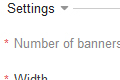 Banner settings in Admin Panel