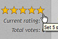 Rating stars bar before user ser rating