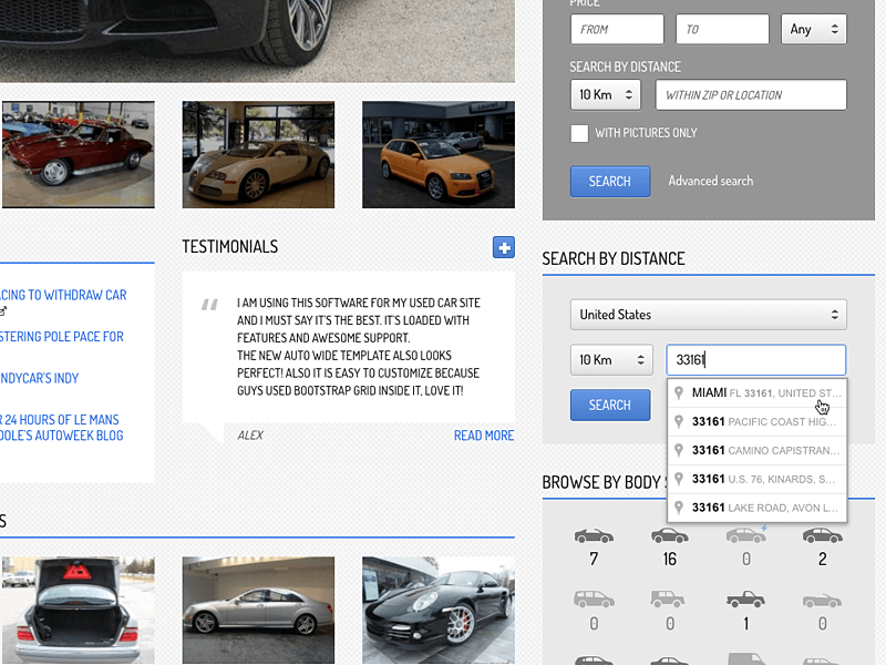 Search by Distance Plugin for Classifieds Sites