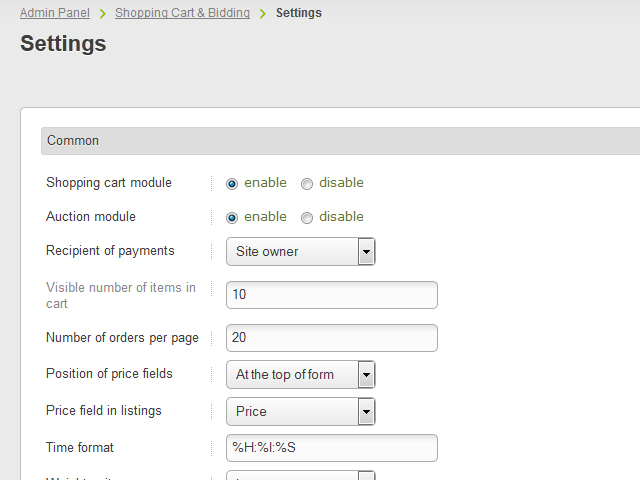Best Buy Private Auction >> Shopping Cart Bidding Classifieds Software Plugins