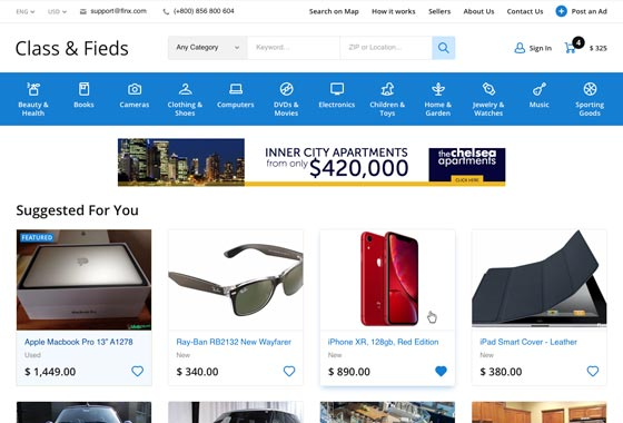 Classifieds Software - PHP Classified Script